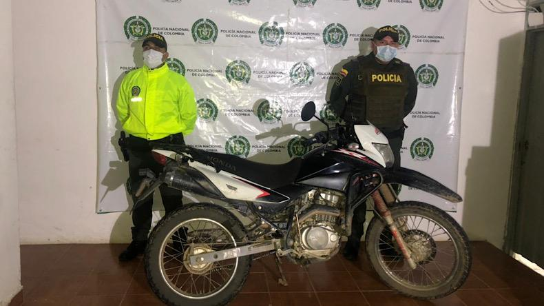 Moto recuperada Chaparral